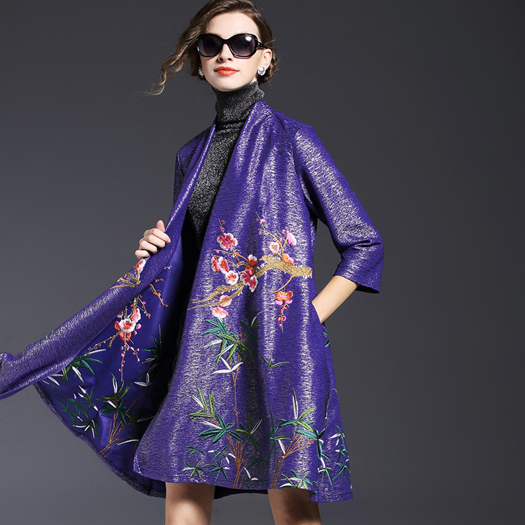 The new Europe and the United States womens spring 2016 7 minutes of sleeve luxury club embroidered cape cape coatОдежда и ак�е��уары<br><br><br>Aliexpress