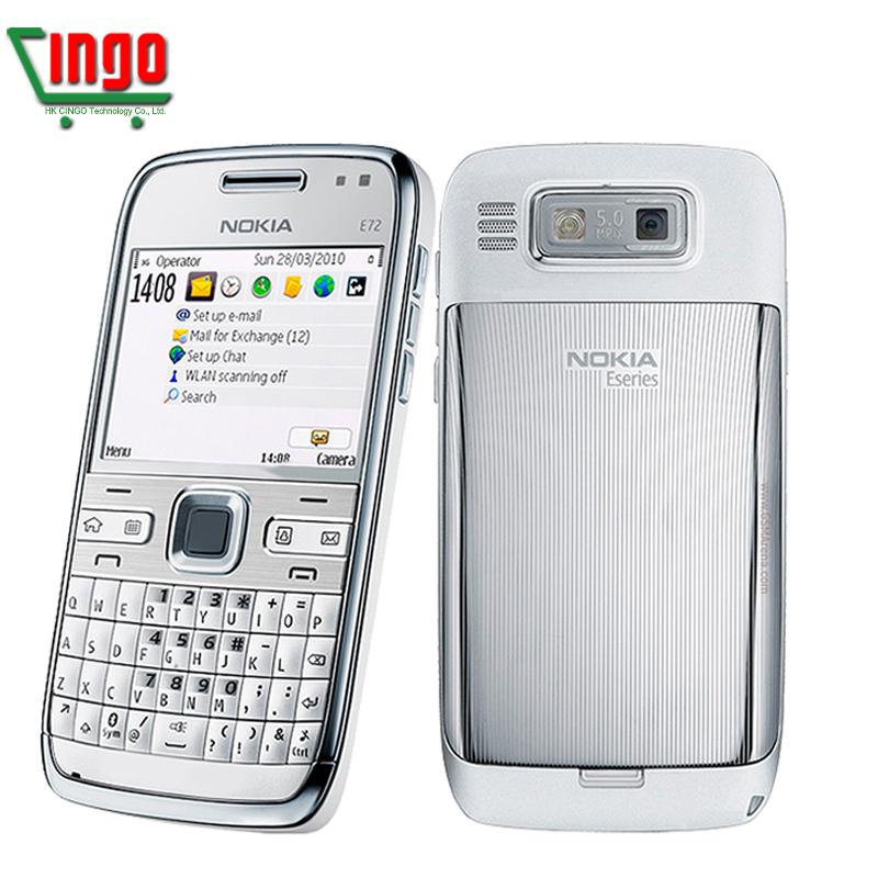 E72 100% Original Nokia E72 Mobile Phone 3G Wifi GPS 5MP Unlocked E Series Smartphone & One year warranty Free Shipping(China (Mainland))