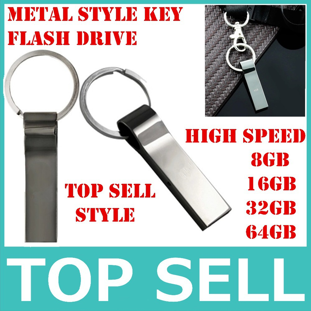 top quality v285w waterproof metal usb flash drive 32gb pass h2testw 4gb 16gb 8gb pendrive with key ring portable pen drive cool(China (Mainland))