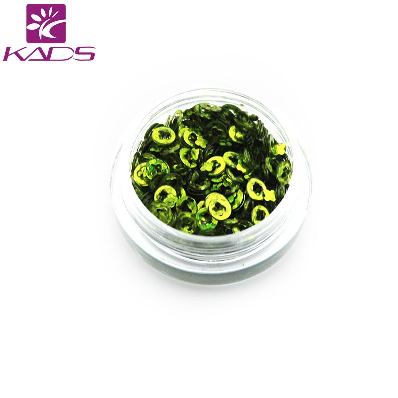 KADS New 2016 1pc/box Plum Flower Grass Green Shinning Nail Glitter Powder Gorgeous Glitters Dust Nail Art Decorations(China (Mainland))