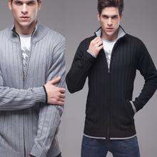 2015 new arrival men's clothing stand collar cardigan sweater male fashion casual autumn Plus size M L XL XXL 3XL 4XL 5XL 6XL(China (Mainland))