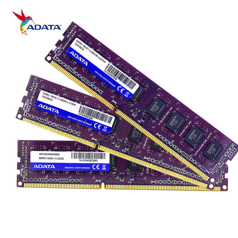 ADATA DDR3 Memory RAM 4GB DDR 1600MHz PC Memoria DIMM For