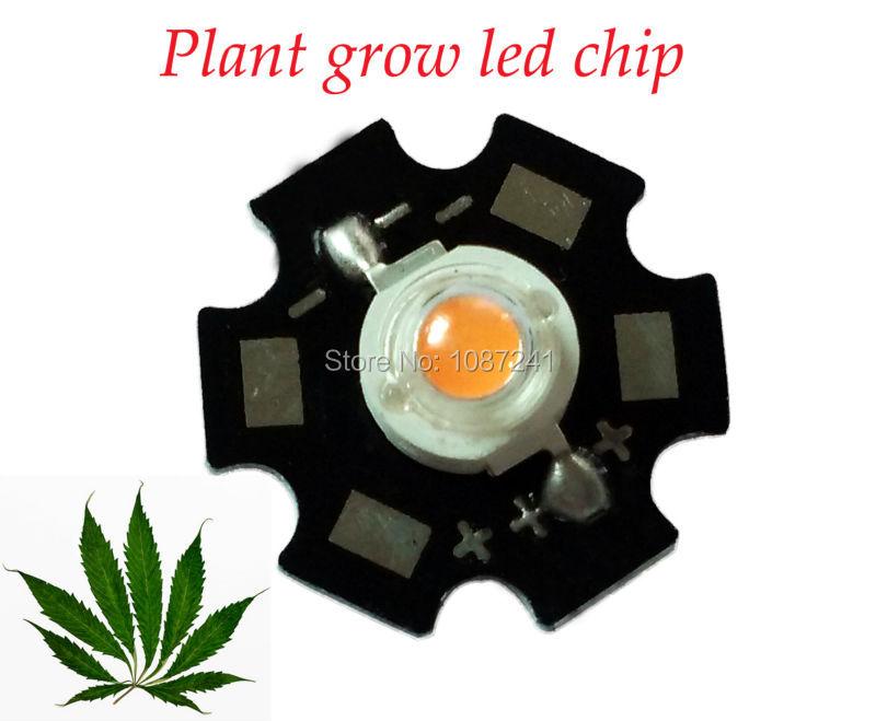 1w 3w full spectrum led grow chip 3w 400-840nm high power grow led,20mm star led pcb 3w for diy grow light kits(China (Mainland))