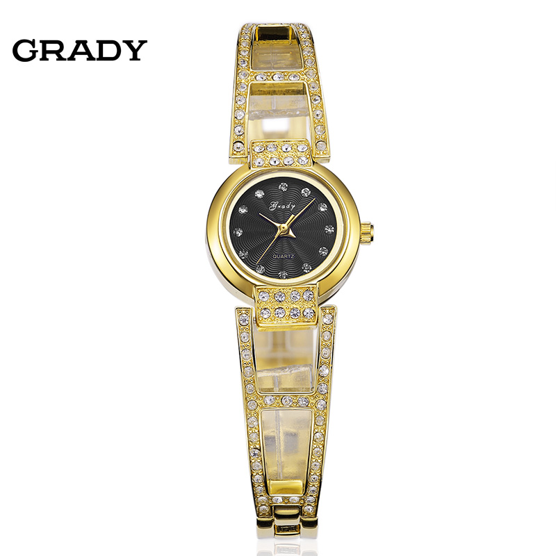 grady fashion gold watches black and gold colour