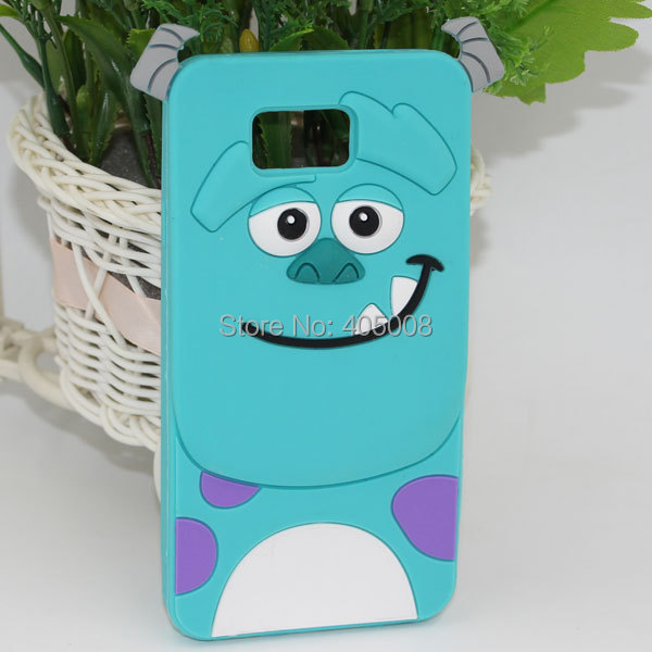 3D Monsters University Sulley Soft Silicon Back Cover For Samsung G850 Cute Cartoon Phone Case For Samsung Galaxy Alpha G850F(China (Mainland))