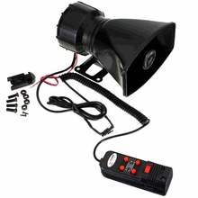 100W 5 sound style Car Electronic Warning Siren Alarm   Police Firemen Ambulance Loudspeaker Speaker with MIC