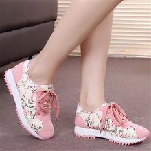 2016 spring shoes female floral shoes casual single shoes