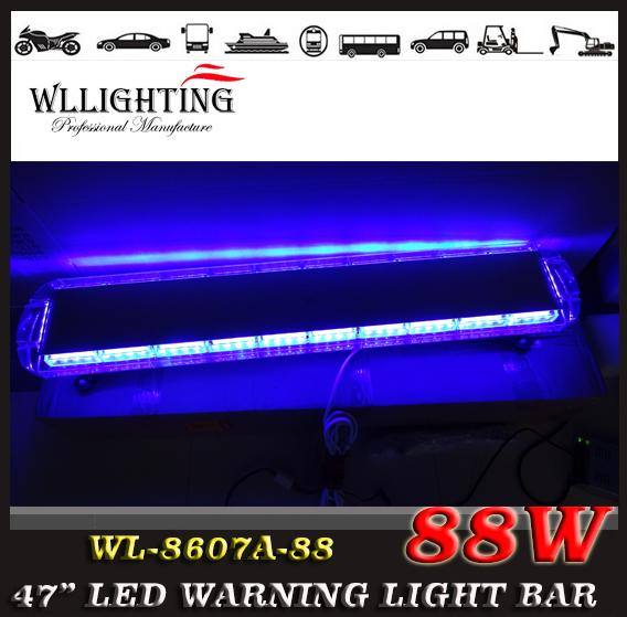 "free shipping 12V -24V 47"" inch 88 LED Emergency Recovery LightBar Wrecker Flashing LightBar Beacon Strobe Light Bar(China (Mainland))"