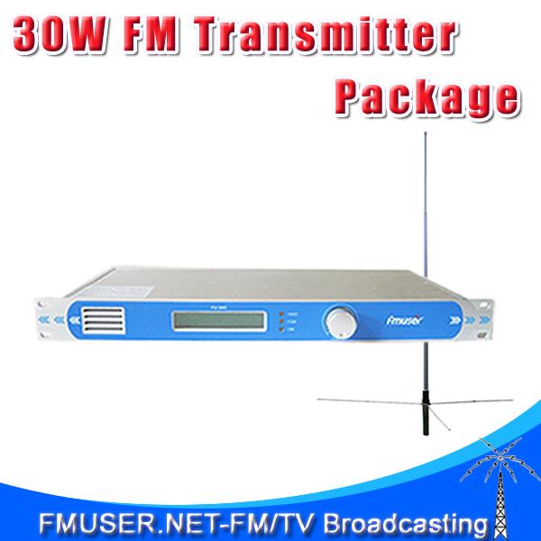 FMUSER FU-30C FMT-30L 30W FM Radio Broadcasting Transmitter + 1/2 Wave GP Antenna+8 meter RG58 Cable(China (Mainland))