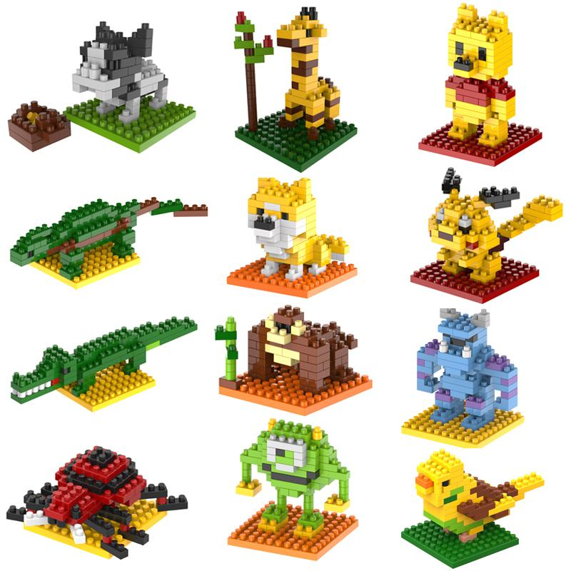 2015 New Gift smae as LOZ Building Blocks small animal Minion Mario Transformation Minifigures Cartoon Characters