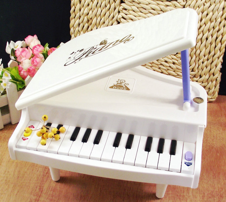 White Electronic Symphonic Mini Piano Infant Playing Type Educational Musical Instrument Toys Gift For Kids(China (Mainland))