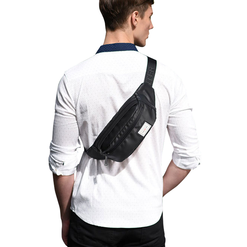 Waterproof Multifunction Belt Bum Waist Pouch Fanny Pack Waist Packs Zip Bag Waist Pack Pouch Travel Bum Bag Black YB14001-B(China (Mainland))