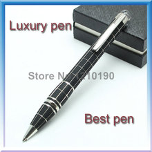 Бесплатная доставка бизнес исполнительный быстрый марка звезда шариковая ручка черный с серебром клип бланс канцелярских товаров