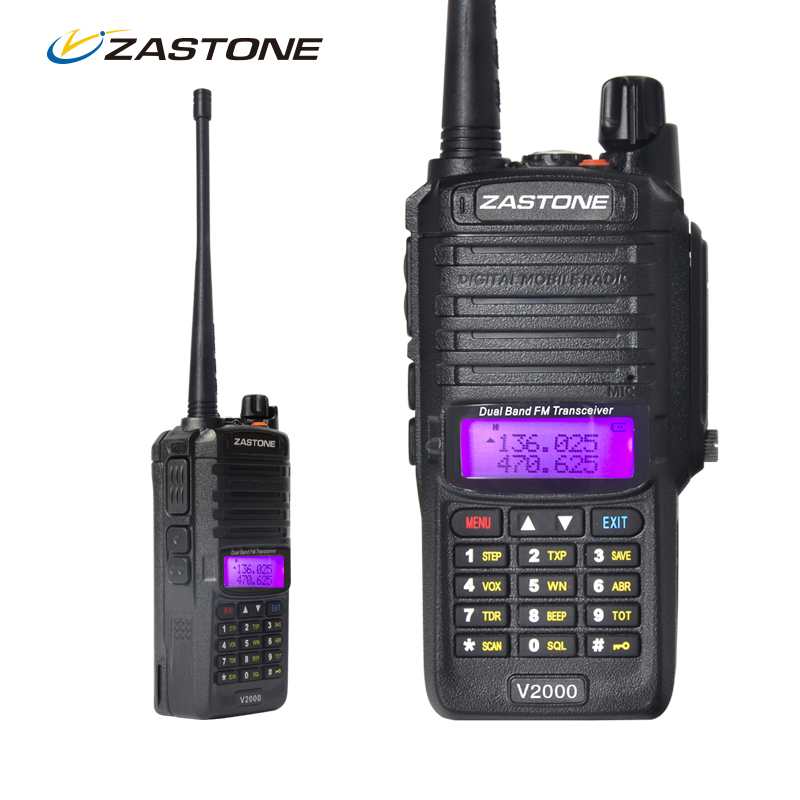 Zastone ZT-V2000 IP67 Waterproof Walkie Talkies Best Dual Band VHF/UHF Handheld Two Way Radio Portable Ham Radio Comunicador(China (Mainland))