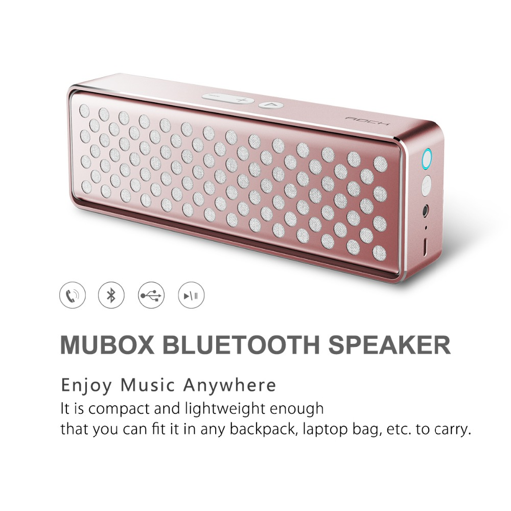 Original ROCK Bluetooth Mini Speaker Wireless Stereo Loudspeaker NFC-Enabled mega Bass Speakers With Build-in Mic for PC(China (Mainland))