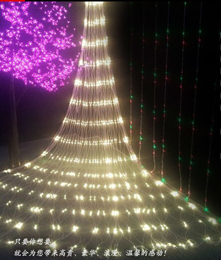 2m*2m 144 LED Net Mesh Fairy String Light Christmas Wedding Party Fairy String Light with 8 Function Controller EU Plug x 10pcs(China (Mainland))