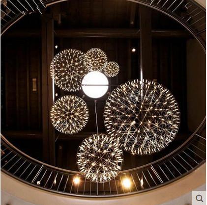 Фотография LED Chandelier Creative Personality Sphere Planet Spark Moooi Lighting Living Room Clothing Store Fireworks Chandelier