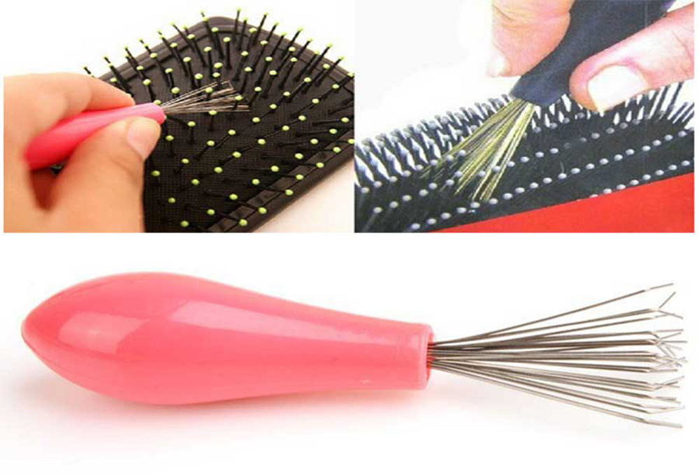 Comb Hair Brush Cleaner Cleaning Remover Embedded Beauty Tools Plastic Handle Free Shipping(China (Mainland))