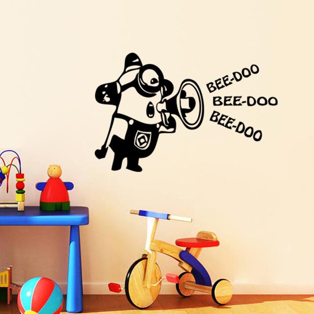 Гадкий я 2 миньоны автомобильный холодильник стены стикеры для детей номеров декоративные настенные искусство съемный пвх мультфильм стены этикету