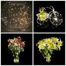 HOT 5m 50leds Battery Operated Indoor / Outdoor String Lights Ultra Thin String copper Wire LED Starry Starry decoration lamp