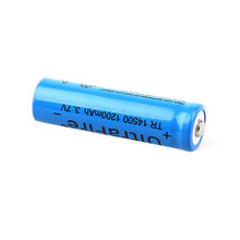 10PCS 3.7V 14500 TR14500 Battery 1200mAh lithium Li Ion Rechargeable Capacity Batteries batteria flashlight Red LED wholesale