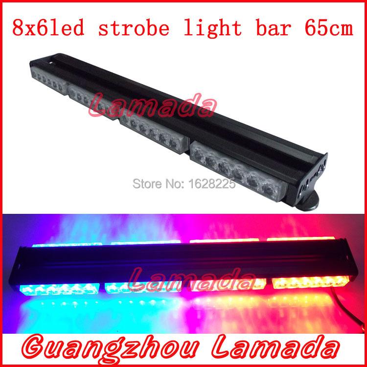 48 led police strobe lights vehicle strobe light bar with magnet led. Black Bedroom Furniture Sets. Home Design Ideas