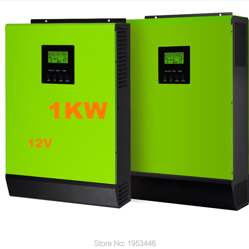 1 Phase 1000W 12VDC Hybrid solar power inverter grid tied and off grid solar inverter solar power 1000w(China (Mainland))