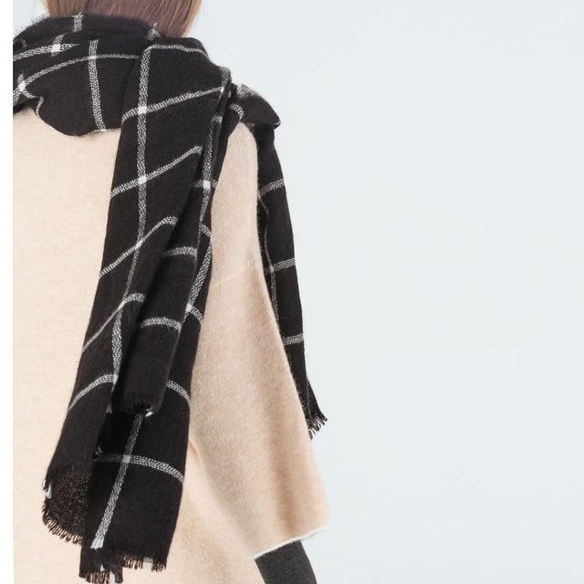 1 шт. унисекс женские мужчины зима теплая большой шотландка проверить плед шарф платок одеяло обертывания пашмины Bufandas украл