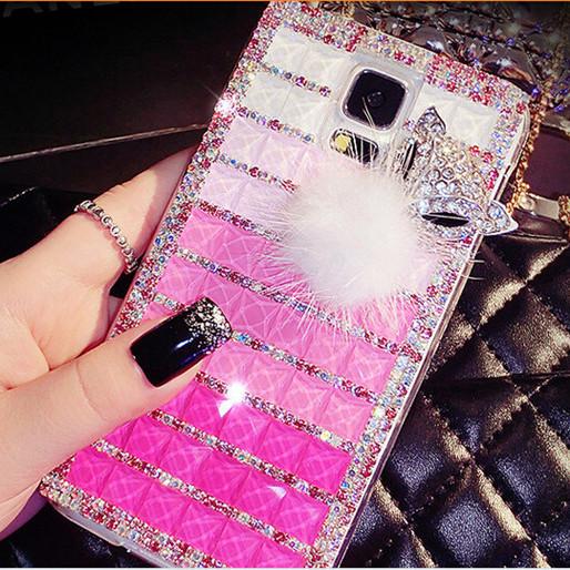 Fashion Fox Head Fur Bling Rhinestone Hard Shell Case Samsung Galaxy S3 i9300 S4 i9500 S5 i9600 Note 3 2 N7100 Crystal Capa - Gizmo Gallary store