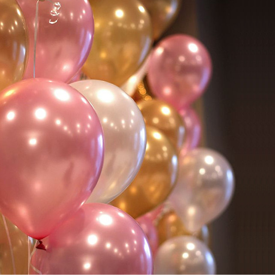Pearl balloons 20pc 10 Inch Thick 2.2 g Birthday Ballons Decorations Wedding Ballons Pink White Purple Globos Party Wholesale(China (Mainland))