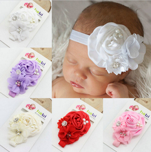 Buy TWDVS Newborn Flower Hair Accessories Pearl Diamond Kids Hair Elastic Band Fashion Ring Flower Headband W047 for $1.17 in AliExpress store