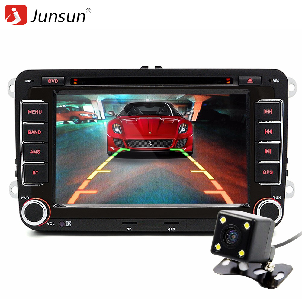 junsun 7 2 din car dvd gps radio player for volkswagen vw golf 5 6 touran passat b6 sharan. Black Bedroom Furniture Sets. Home Design Ideas