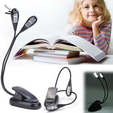 Hot Selling 360 Degree 4 Leds Mini Flexible Clip/Stand Book Ebook Led Light Laptop PC Reading lamp(China (Mainland))