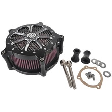 Black Air Cleaner Intake Filter System Aluminum Air Cleaner Intake Filter For Harley Softail Touring Dyna Models(China (Mainland))