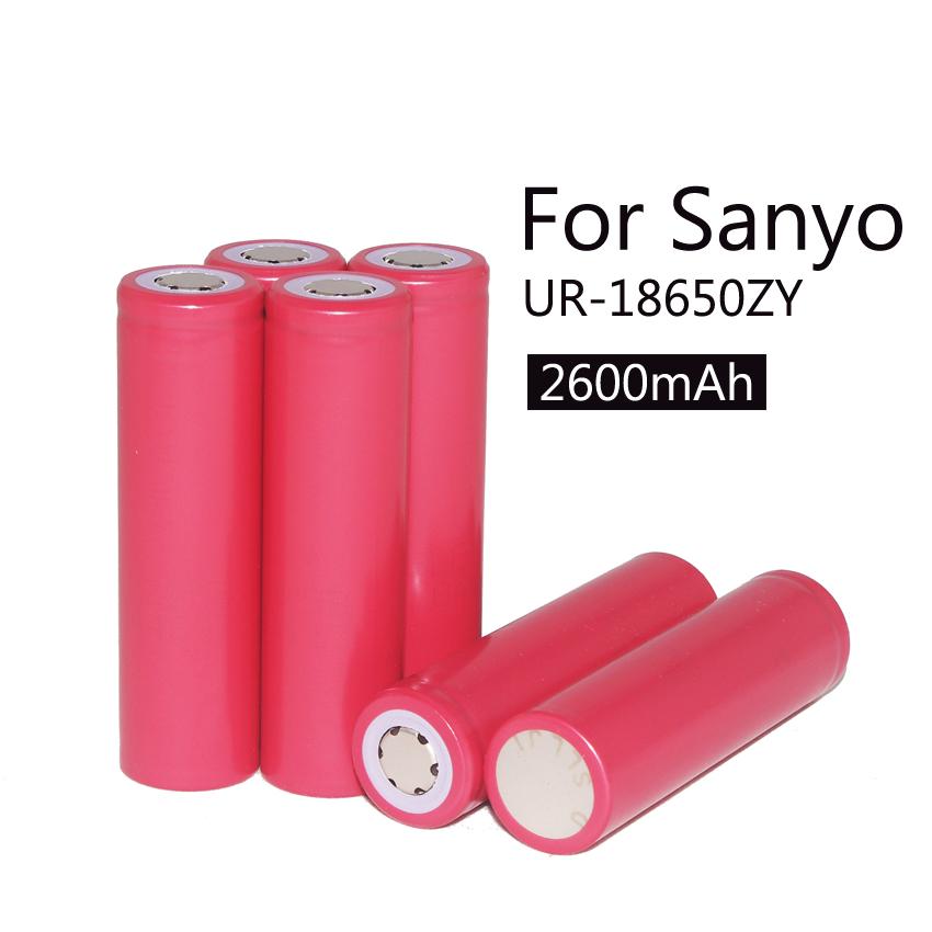 6 pcs NEW 100% original Sanyo 18650 2600 MAH Li ion battery, 18650 rechargeable battery Free delivery(China (Mainland))