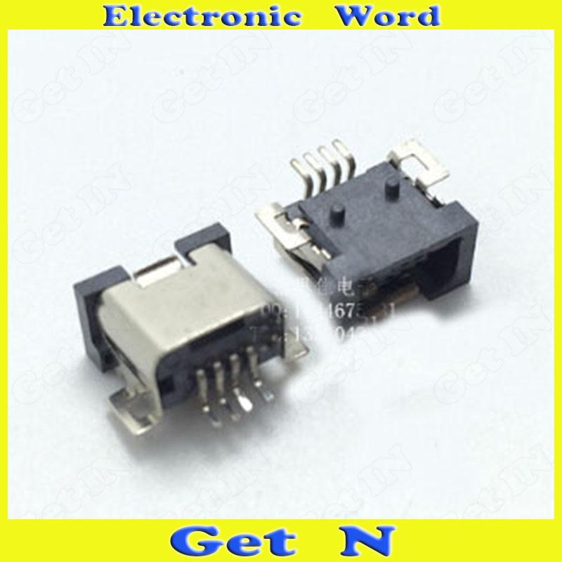 1000pcs   4Pins Mini USB Female Jacks 5Pins 5P for DIY Accessories Digital Product Mini USB Power Charging Socket Connectors<br><br>Aliexpress