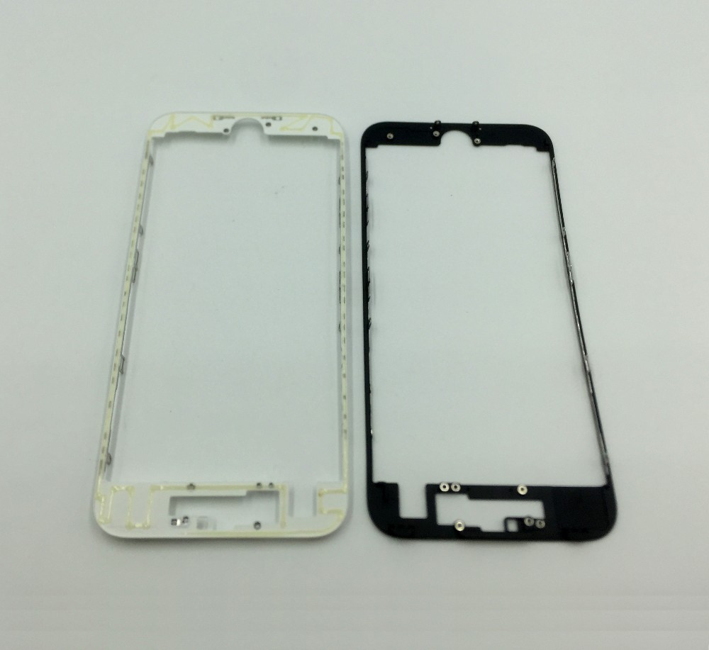 10pcs/lot white/black Lcd & touch screen frame front bezel supporting bracket with hot glue for iPhone 7 4.7 7 plus 5.5(China (Mainland))