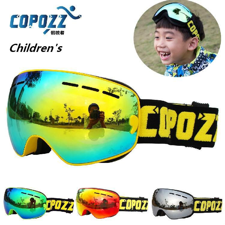 COPOZZ Brand Kids Ski Goggles Double UV400 anti-fog mask glasses skiing Girls Boys Snow Snowboard goggles GOG-243 Free shipping(China (Mainland))