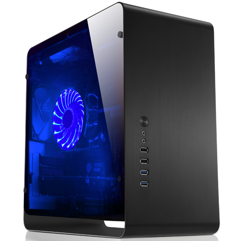 Jonsbo UMX3 Tempered glass Side Transparent version black Chassis