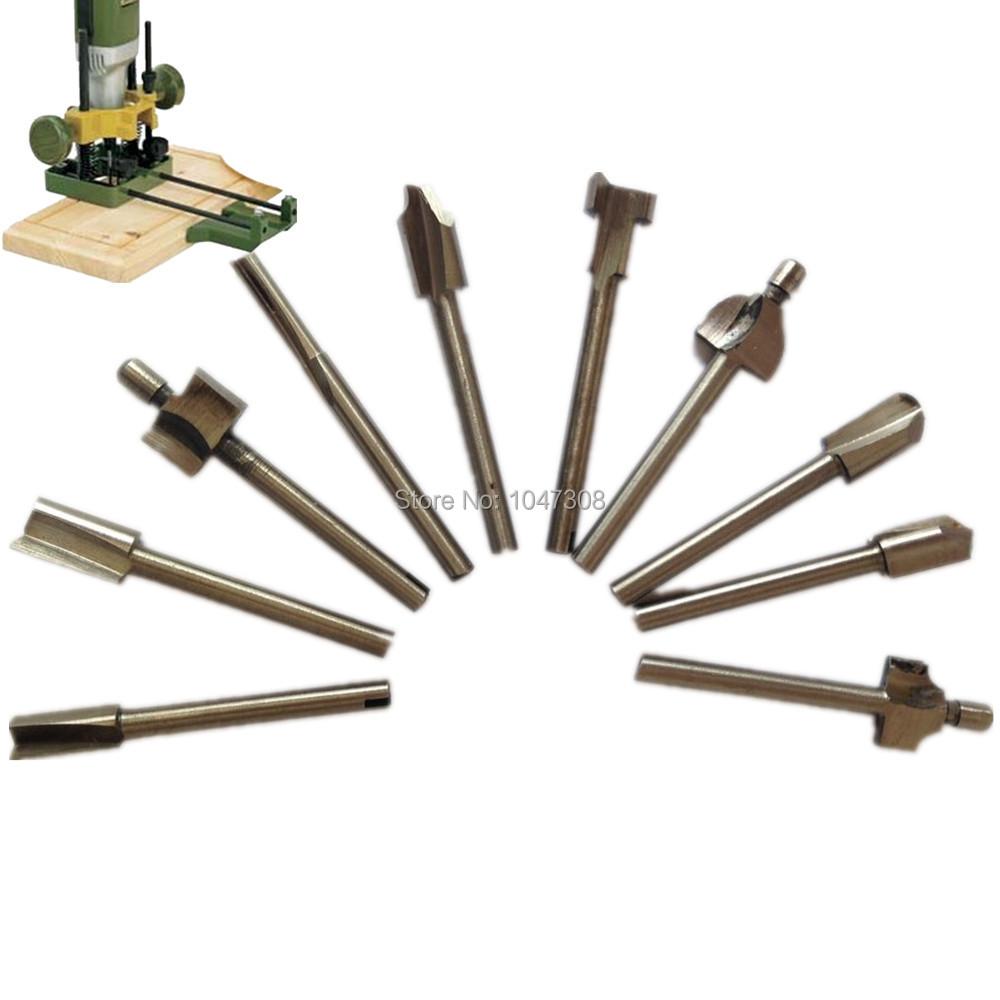 10pc Wood Cutter Boring Woodworking Drill Bit Set 3mm 1 8