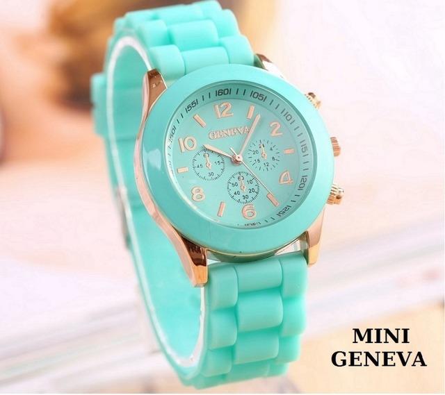 Zegarek damski GENEVA silkonowa opaska różne kolory