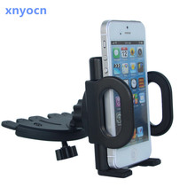 Universal CD Slot Car Cell Phone Holder Mount iPhone 5 6 Plus Samsung Galaxy s6 s7 edge Mobile GPS Bracket Stands - xnyocn HK store