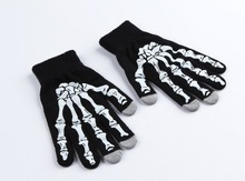 2015 Hot Sale Fashion Men's Skeleton Winter Glove Hand Touch For Man/Male Free Shipping