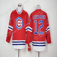 2016 New #12 Kyle Schwarber Hoodies Chicago Cubs Baseball Jerseys Red long Sleeve Embroidery Logo,M~3XL(China (Mainland))