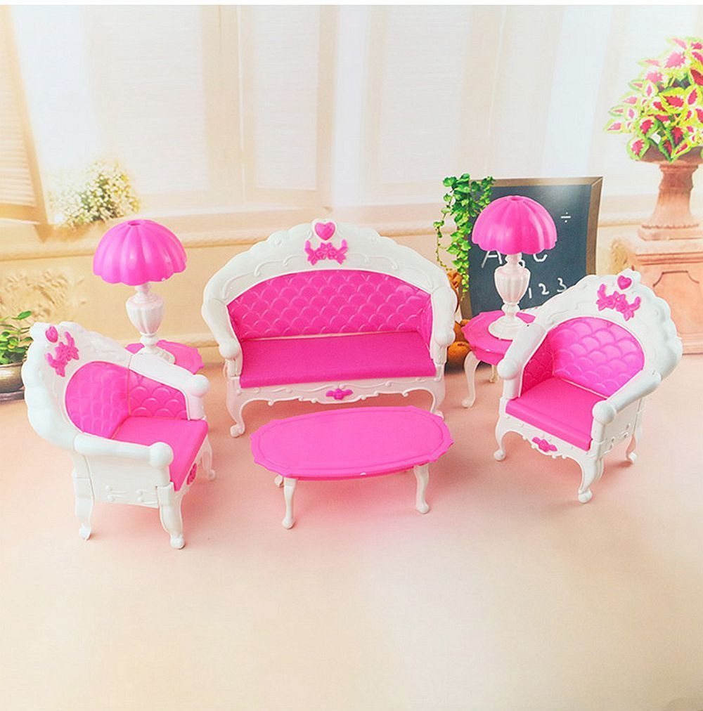 mini size dollhouse furniture living room parlor sofa set