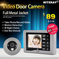 IR Infrared Video Peephole Door Eye Viewer Camera with Doorbell Function