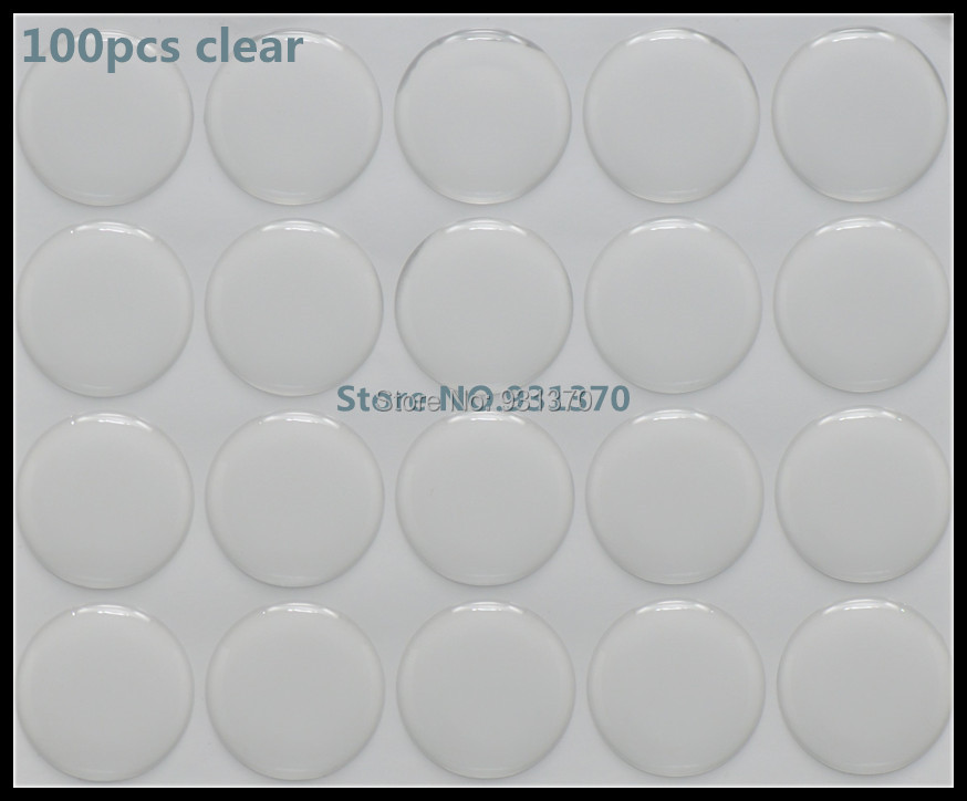 """100PCS Clear Round Epoxy Domes Resin Self Adhesive Stickers Cabochon 25mm Dia.(1"""") 3D DOME CIRCLE STICKERS(China (Mainland))"""