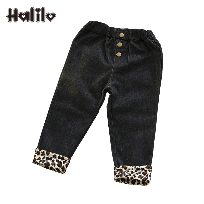 Girls Winter Jeans Warm Plus Velvet Jeans Fille Enfants Kids Clothes Toddler Girl Jeans Pants Casual Girls Denim Trousers(China (Mainland))