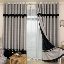 High Quality Finished Curtains Fabric Stripe Drapes Curtain Blackout Curtains For Bedroom Kitchen Curtains For Living Room(China (Mainland))
