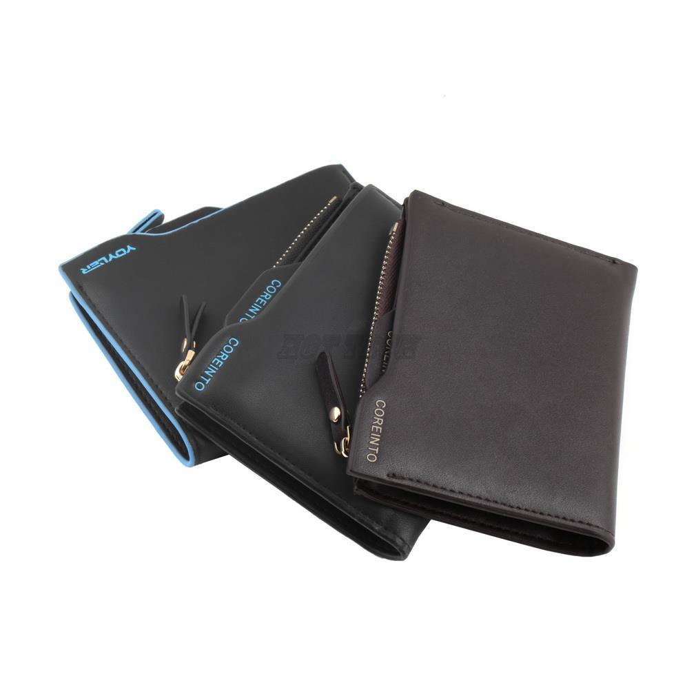 2015 New Men Faux Leather wallets Bifold Wallet ID credit Card holder Coin Purse Pockets Clutch